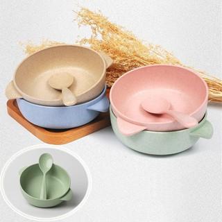 HCM - Chén kiểu Nhật nhựa lúa mì sinh học (kèm muỗng)