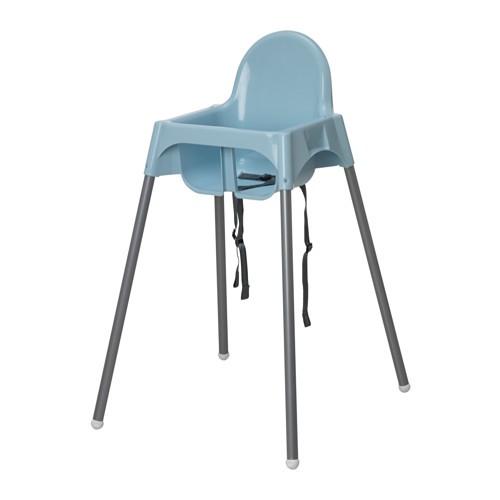 Ghế ăn dặm ANTILOP IKEA màu xanh (chưa kèm mặt bàn ăn)