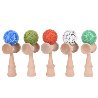 Specialhour 1PC Children Safety Crack Pattern Toy Bamboo Kendama Best Wooden Educational