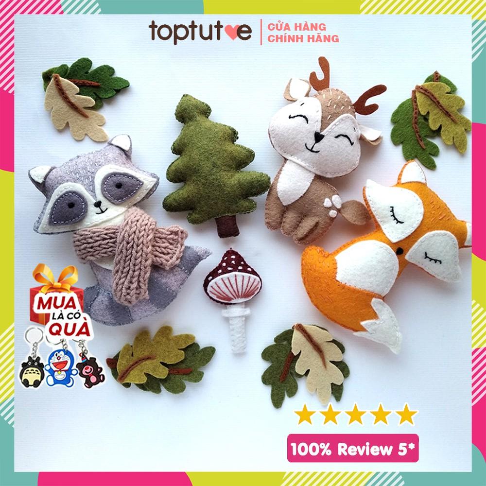 Con Thú, Đồ Vật Rời Handmade Toptutoe – Đồ chơi cho trẻ sơ sinh & trẻ nhỏ treo cũi, nôi xe đẩy