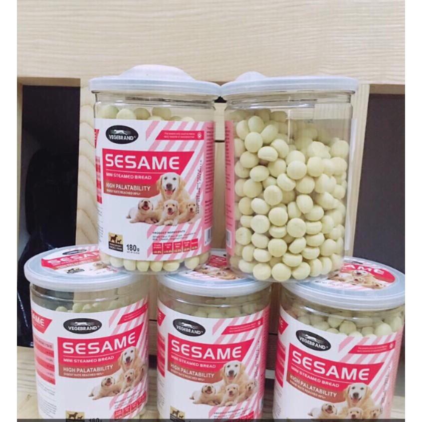 Đồ Ăn Vặt Bánh Thưởng Bổ Xung Canxi Cho Chó Sesame High Palatability 180g