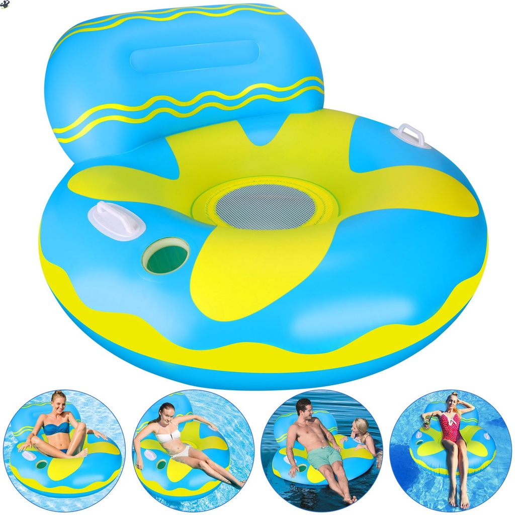 LL Summer Inflatable Pool Float Bed Air Sofa Floating Chair For Water Recreation Swimming Pool Beach