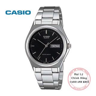 Đồng hồ nam Casio dây kim loại MTP-1240D-1ADF dây kim loại mặt đen thumbnail