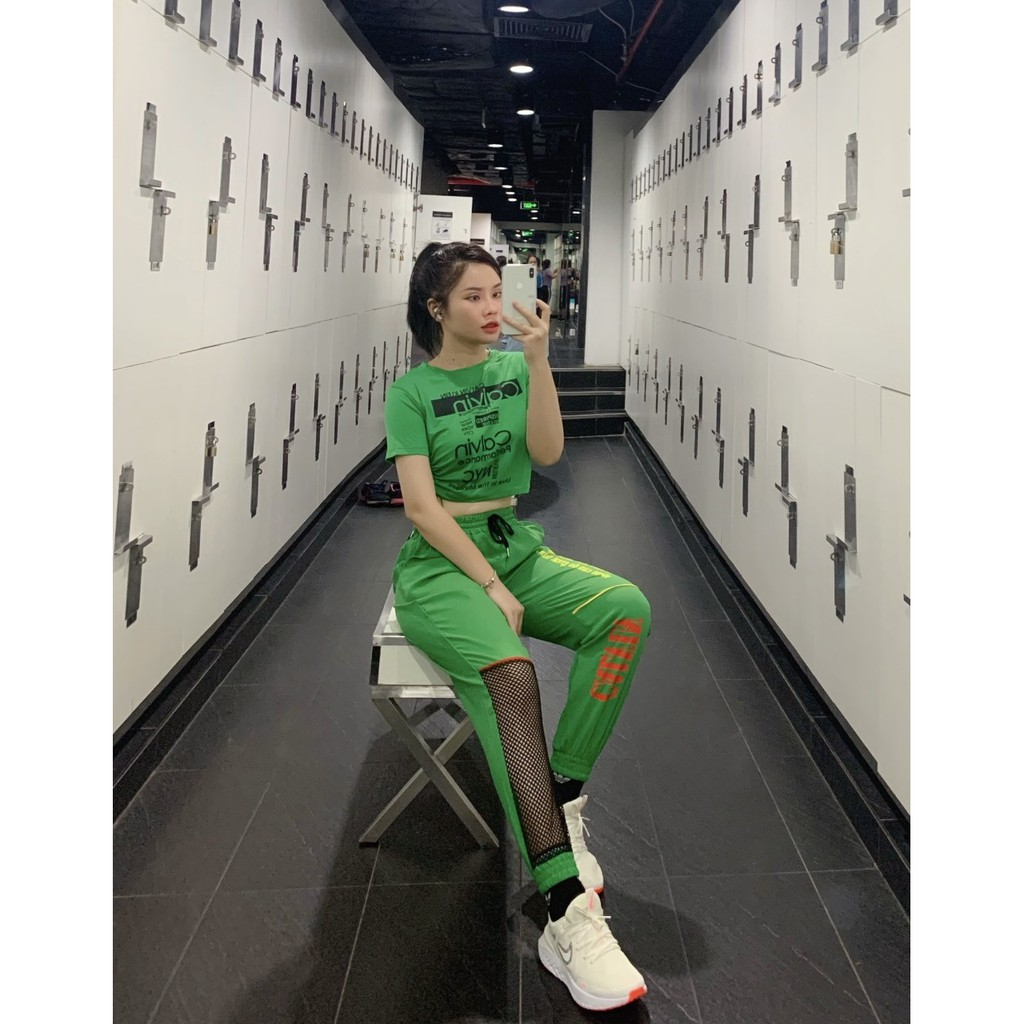 Mặc gì đẹp: Năng động với Áo tập Zumba, Gym, Yoga, thể dục nữ - áo rút dây