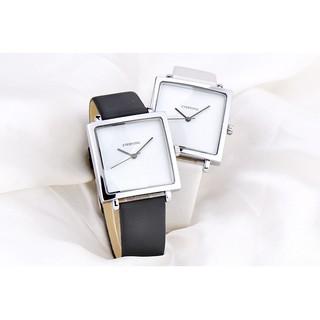 [HÀNG CHÍNH HÃNG] Đồng hồ nữ EVERYONE mặt vuông dây da cao cấp size 36mm ( ảnh thật dưới cuối)
