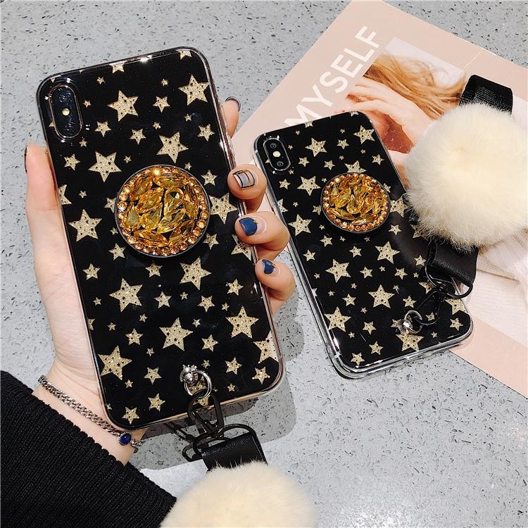 Ốp điện thoại in họa tiết ngôi sao thời trang kèm giá đỡ cho OPPO R17 PRO K1 R15X A7 A83 A71 A9 A3 FIND-X Realme U1