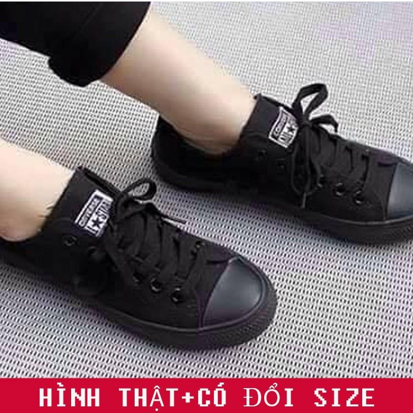 [Freeship] Giày ulzzang CV Classic cổ thấp màu đen full nam nữ   Giày thể thao - GIẦY HANA