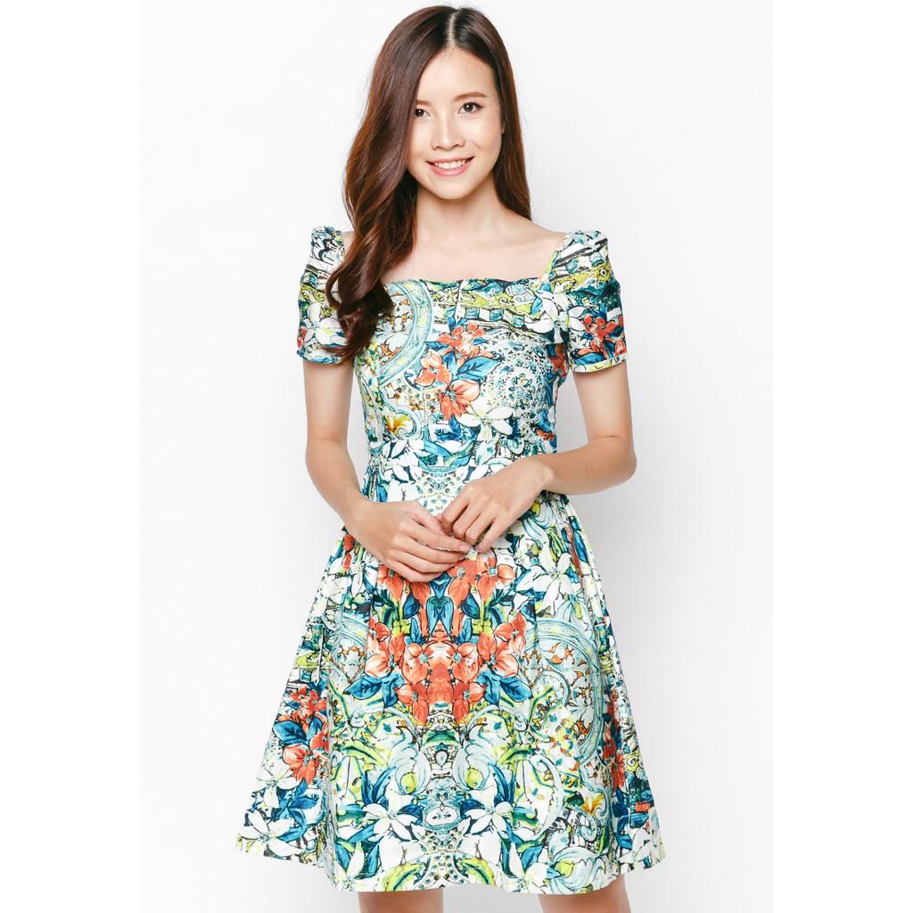 NT Fashion - Đầm Xòe Hoạ Tiêt In Hoa / D11X -5