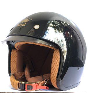 Nón bảo hiểm 3 4 kính âm Royal M139 đen bóng thumbnail
