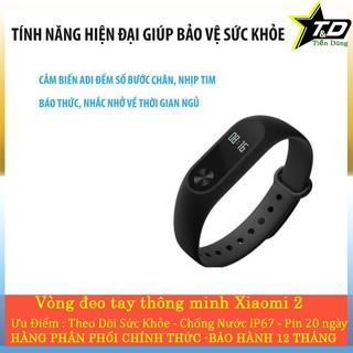 Xiaomi mi band 2 vòng đeo tay xiaomi mi band 2 dùng 20 ngày chống nước theo dõi sức khỏe thumbnail