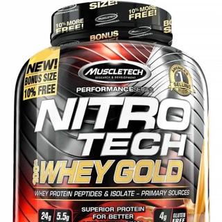 NITRO TECH 100% Whey Gold tặng kèm bình lắc cao cấp