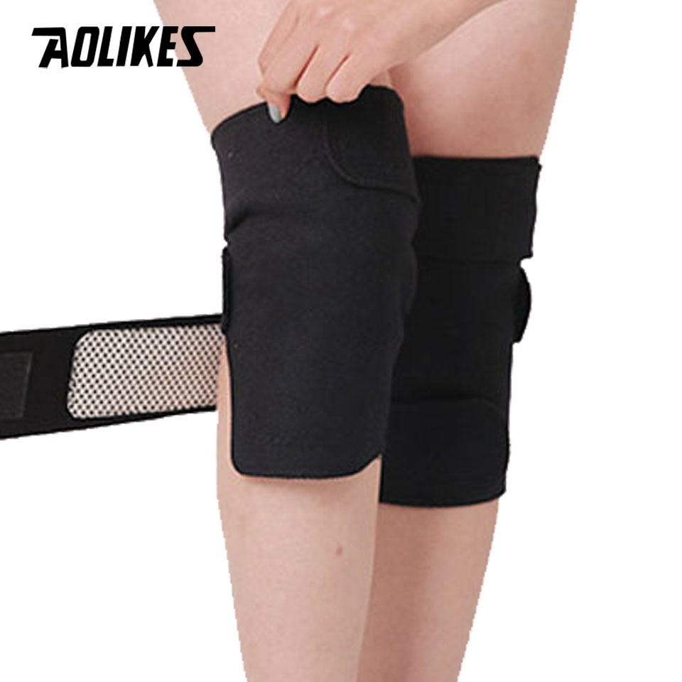 AOLIKES 1 Pair Self Heating Knee Pads Magnetic Therapy Kneepad Pain Relief Arthritis Brace Support Patella Pads