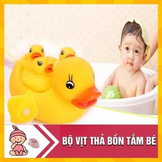[Nhập TOYAPR10 giảm 10K]Vịt thả bồn tắm phát nhạc 1 mẹ 3 con cho bé [GIÁ TỐT NHẤT]
