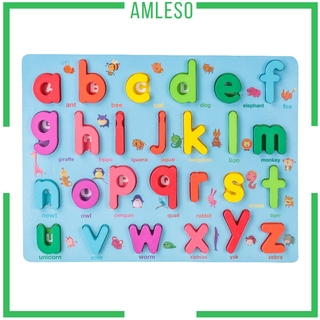 [AMLESO] Digital Letter Puzzle Matching Board Early Educational Toy for Age 3 4 5