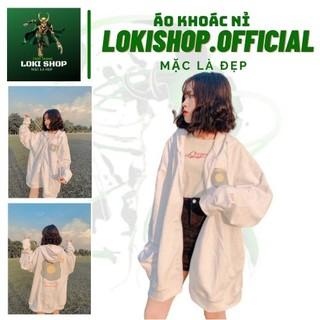 Áo khoác hoodie nỉ chống nắng dành cho nam nữ LOKI SHOP In Hình Egg , form rộng unisex loại dây kéo ulzzang