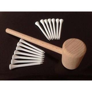 bộ búa gỗ và 20 đinh gỗ, rèn luyện đôi cho bé