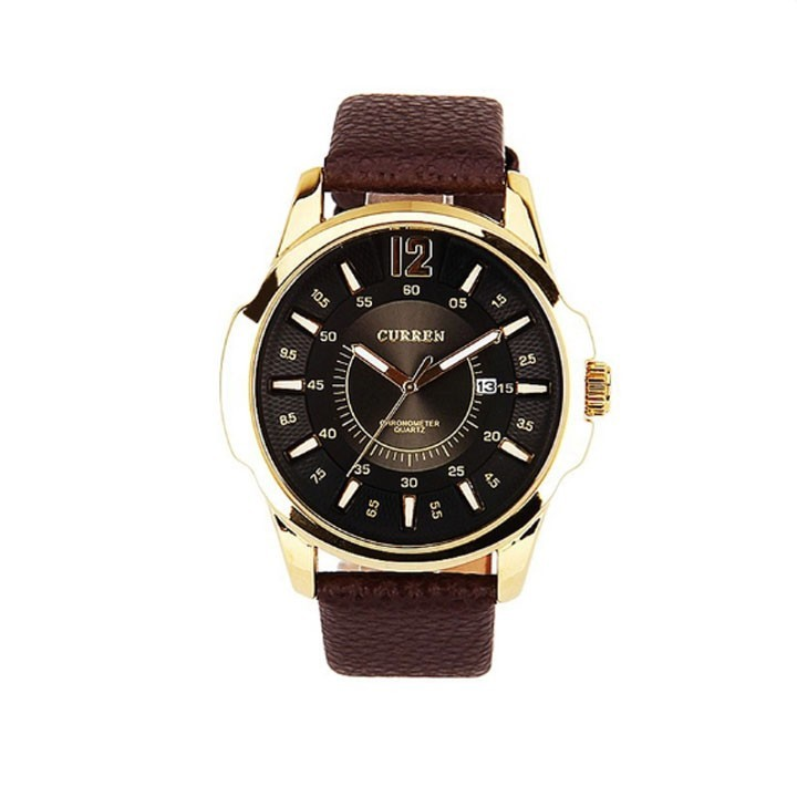 Đồng hồ nam Curren dây da mặt đen