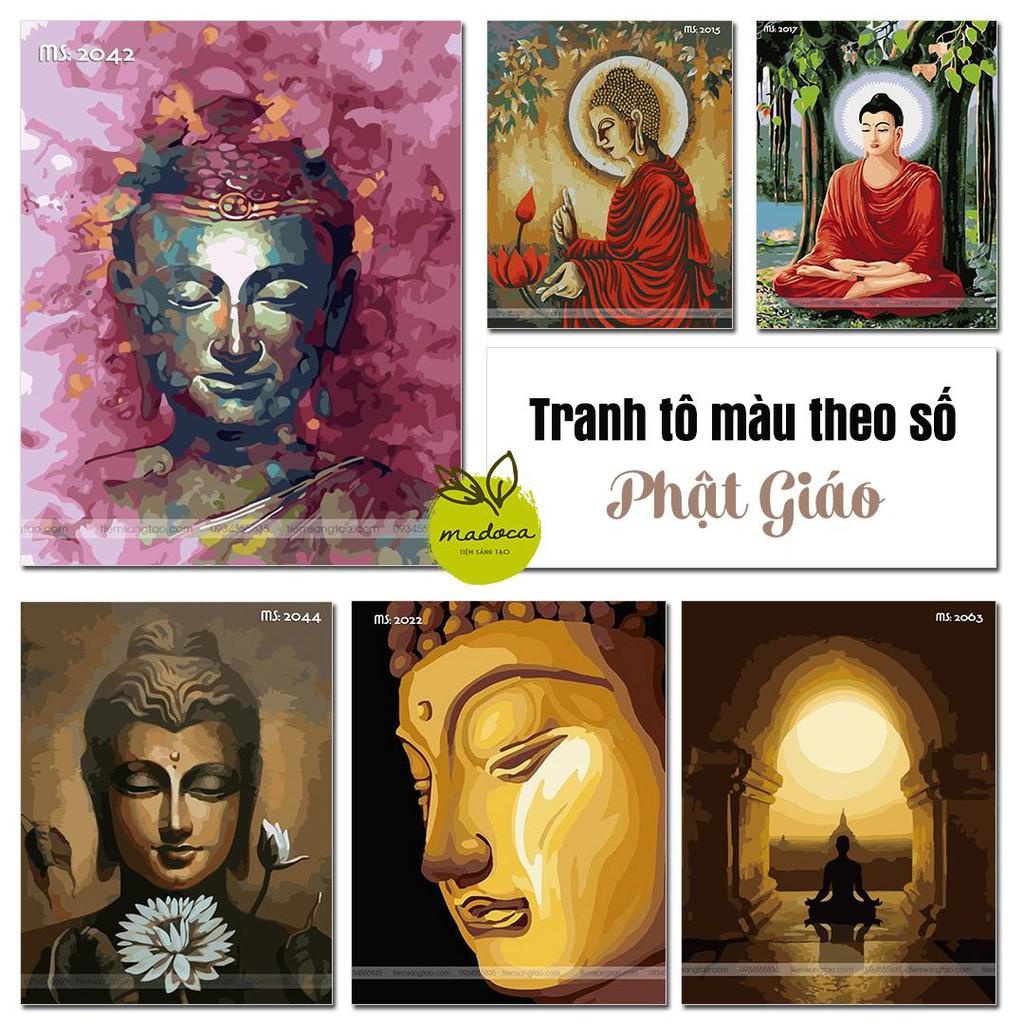 Tổng hợp tranh tô màu theo số Phật Giáo