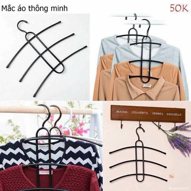 Combo 5 móc quần áo thông