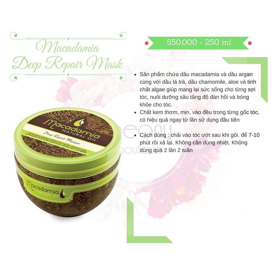 Kem ủ tóc Macadamia Deep Repair