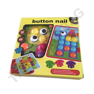 Children Educational Toys Button Nail Art Matching Composite Picture Puzzle
