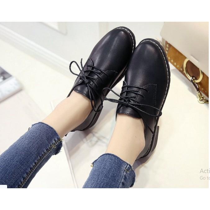 Giày boot nữ full đen đế cao