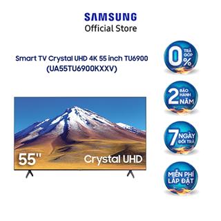 [Mã 158ELSALE hoàn 7% xu đơn 300K] Smart Tivi Samsung Crystal UHD 4K 55 inch UA55TU6900KXXV-Model 2020- Miễn phí lắp đặt