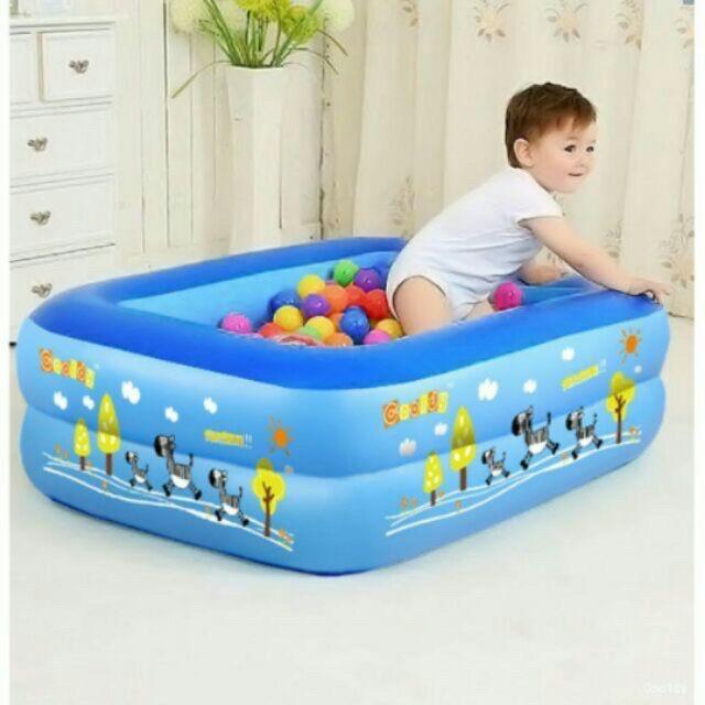 Bể phao bơi❤️Bể phao bơi cho bé 1m2 2 tầng