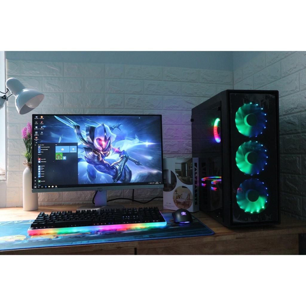 bộ máy tính chơi pubg – màn hình cong 75hz giá rẻ Giá chỉ 8.650.000₫
