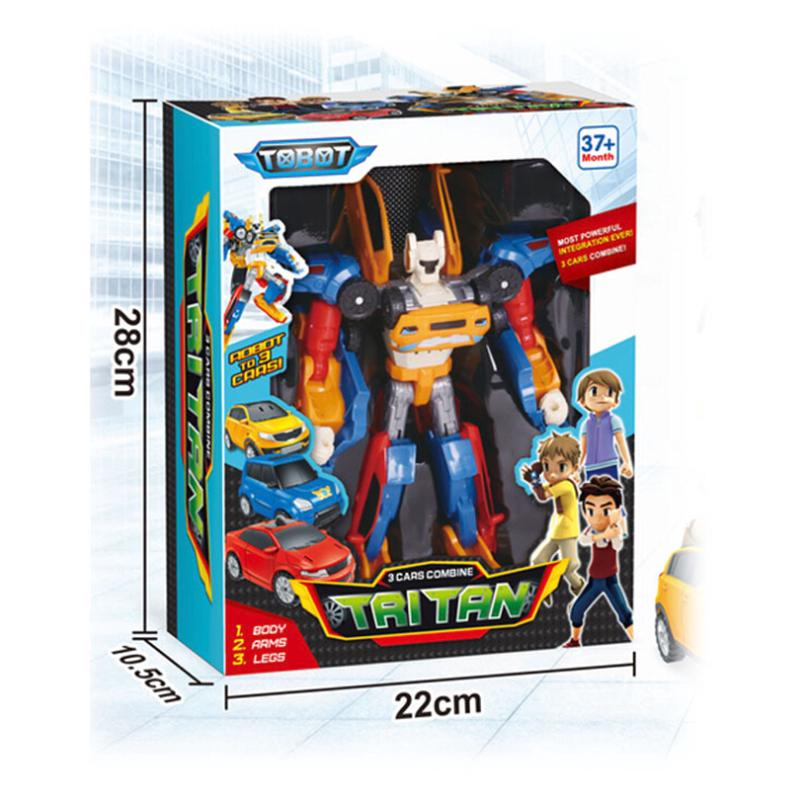 New Mini Children's Car Robot Toy Robot Model Robot Police Car Toy Transformers