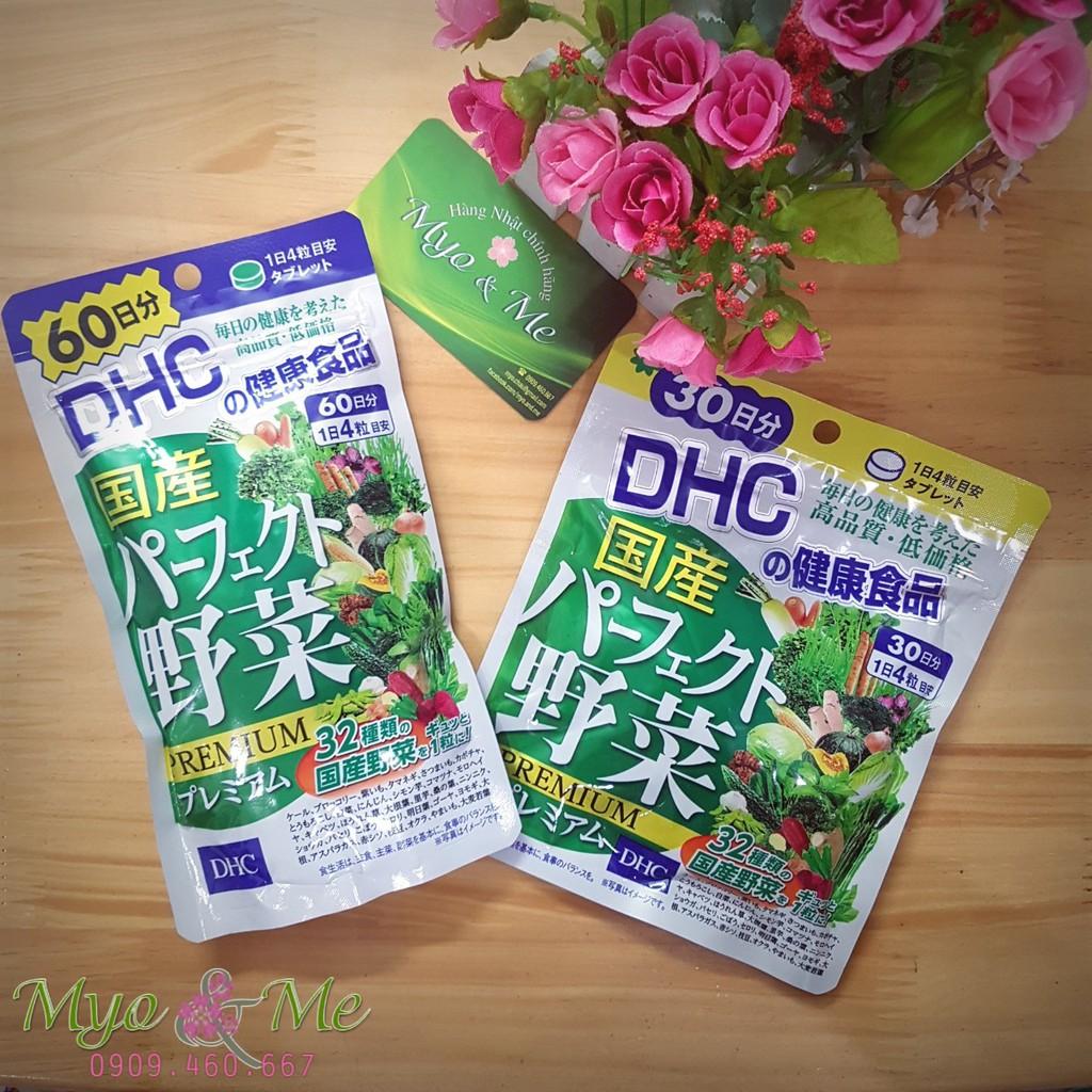 Viên uống bổ sung rau củ DHC Premium túi 30-60 ngày
