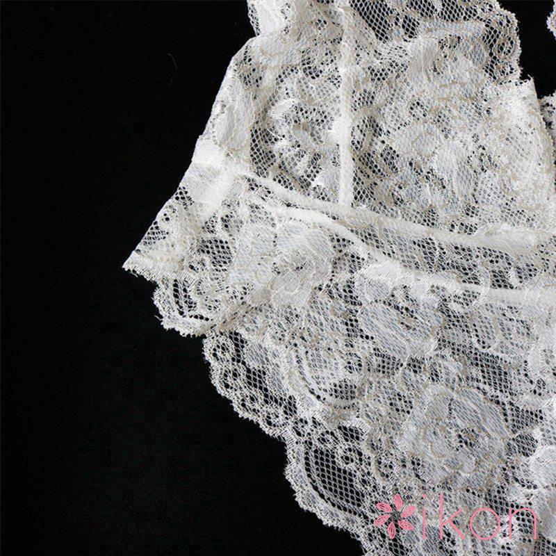 Mặc gì đẹp: Ngủ ngon hơn với  Đồ ngủ ren áo liền quần dây sát nách thiết kế cổ chữ V quyến rũ