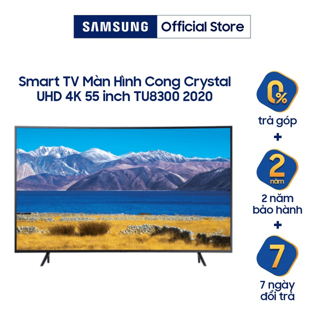 """Smart Tivi Samsung Màn Hình Cong Crystal UHD 4K 55 inch UA55TU8300KXXV - Miễn phí lắp đặt giá chỉ còn <strong class=""""price"""">1.099.000.000.000đ</strong>"""