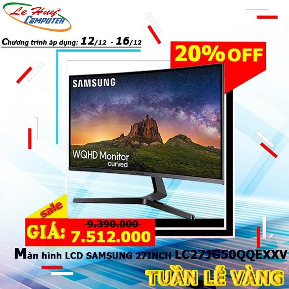 [Mã ELTET1TR giảm 8% đơn 5TR] Màn hình LCD SAMSUNG LCV 27JG50 QQEXXV 27inch WQHD 4ms 144Hz VA
