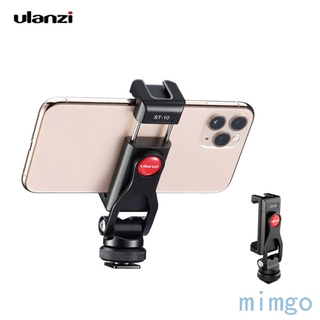 Metal Dual Cold Shoe Phone Holder Phone Clip with Led Video Light Microphone Mount Hex Wrench 1/4 interface Cameras