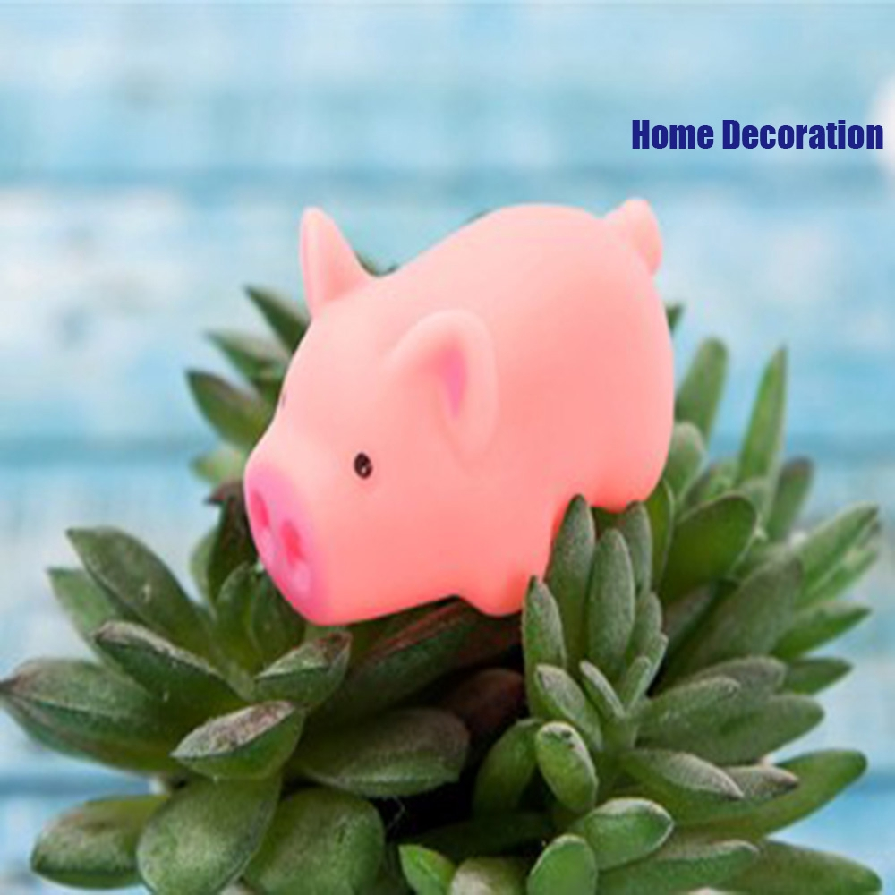 1/2Pcs Home Decoration Kids Christmas Gift Stress Reliever Pink Cartoon Soft Silicone Squeeze Pig