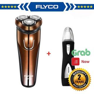 [Combo] Máy Cạo Râu Flyco 3 Lưỡi Kép Kháng Nước FS371VN & Máy Tỉa Lông Mũi FS7805VN AK FM