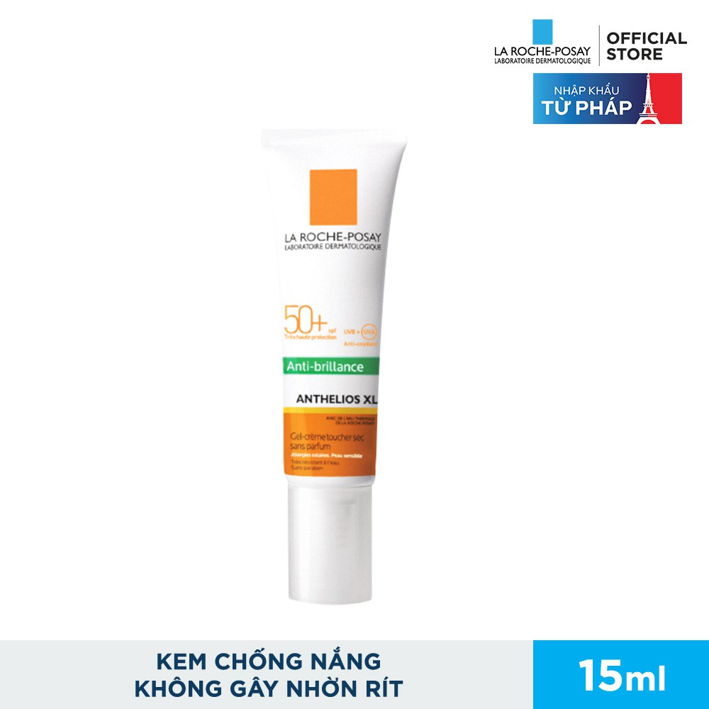 Kem Chống Nắng La Roche-Posay Anthelios XL Dry Touch Gel Cream 15ml |  Shopee Việt Nam
