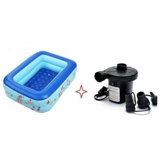 Bể bơi 1m2 2 tầng tặng kèm bơm điện cho bé