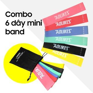 Dây Mini Band Cao Su Kháng Lực Aolikes A-3601 Dây Miniband Tập Mông Đùi, Bộ 6 Dây Giá Cực Shock thumbnail
