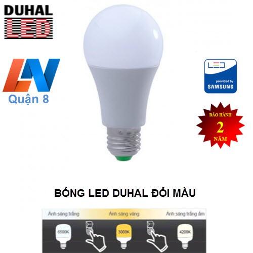 Đèn Led 3 chế độ màu Duhal đuôi E27 - SBBM0031