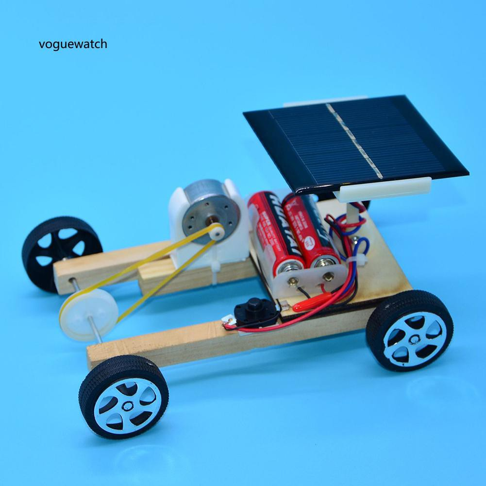 VGWT_Solar Power Wooden Pulley Car Toy Science Project
