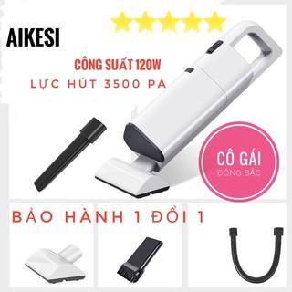 Máy hút bụi cầm tay không dây AKESI 120W, máy hút bụi mini lực hút 3500Pa siêu mạnh.