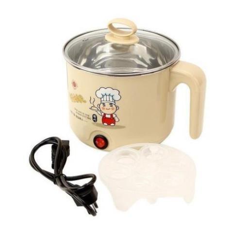 Nồi Nấu Mì Màu Đa Năng, Siêu Tốc 1,6 Lít - ca nấu lẩu nấu mì mini tiện dụng tại nhà