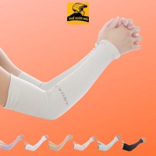 Găng tay chống nắng nhập Hàn AQUA X vải cotton mát thấm hút mồ hôi (không xỏ ngón) thumbnail
