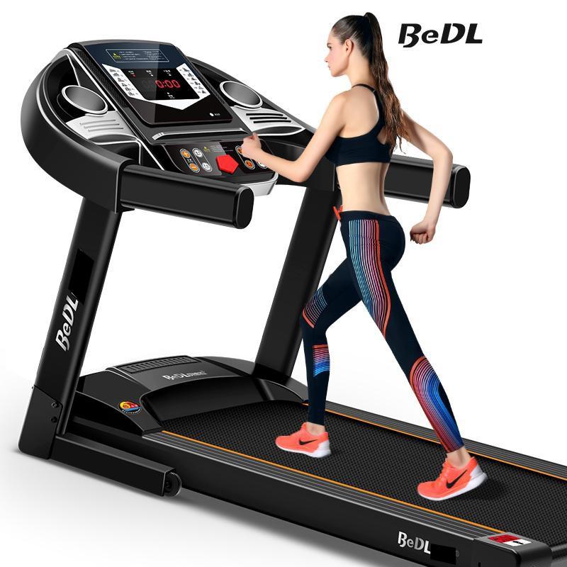Máy chạy bộ trong nhà máy chạy bộ mini máy tập trong nhà máy gym BEDL có thể gấp gọn chạy điện yên tĩnh có thể phát nhạc