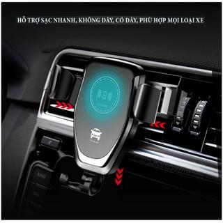 Đế sạc không dây, Sạc đôi không dây, Sạc không dây kiêm giá đỡ điện thoại trên ô tô