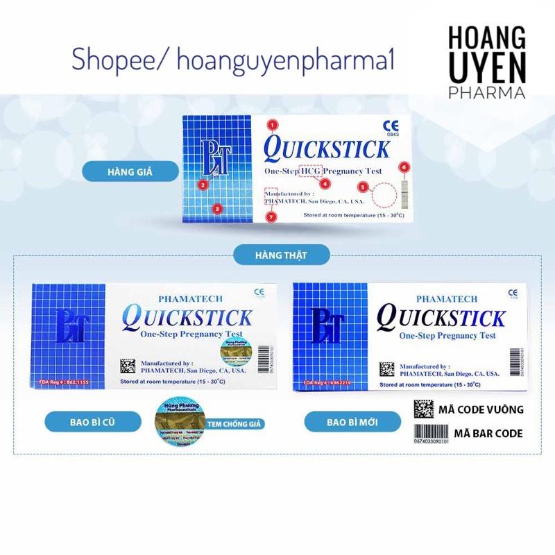 Que thử thai Quickstick Pharmatech - nhập khẩu nhập khẩu