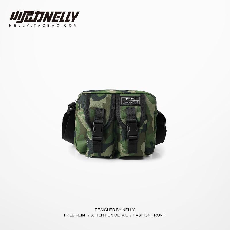 ฮิปฮอปกระเป๋าหน้าอกชายน้ำแบรนด์กระเป๋าสะพายแนวโน้มของผู้ชายถุงอำพรางกระเป๋าฮิปฮอปกระเป๋ากีฬากระเป๋า Messenger ได้สบาย ๆ