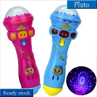 Kids Cute Pig LED Light Up Colorful Flashing Toy, Children Flash Stick Microphone, Starry Toys